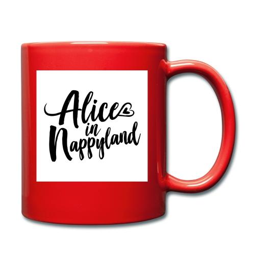 Alice in Nappyland Typography Black 1080 1 - Full Colour Mug