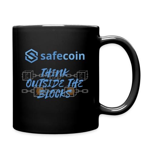 SafeCoin; think outside the blocks (blue) - Full Colour Mug