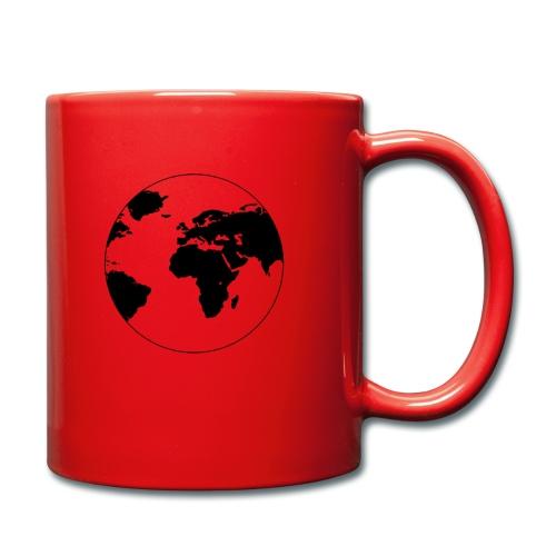 Cooles Design Erde - Tasse einfarbig