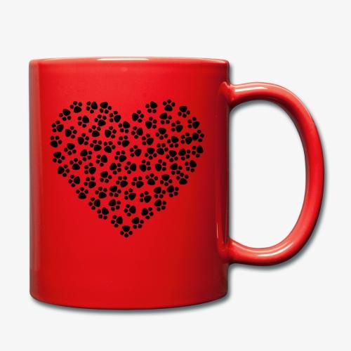 coeur empreinte de chien - Mug uni