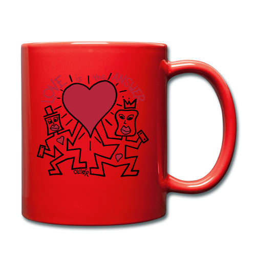Love is the Answer by Oliver Schibli - Full Colour Mug