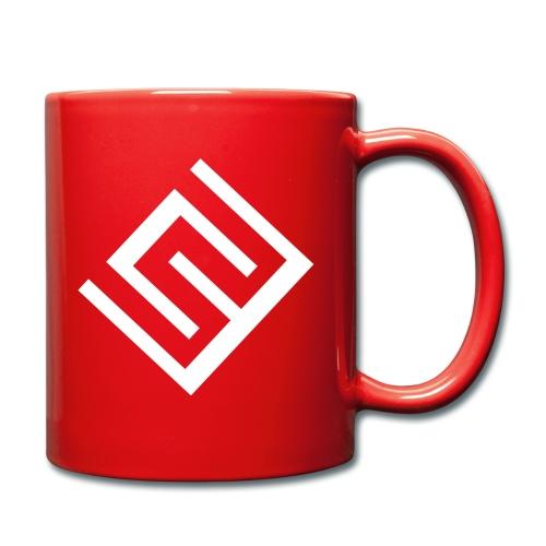 ChrisWhippit Logo Vit - Enfärgad mugg