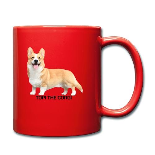Topi the Corgi - Black text - Full Colour Mug