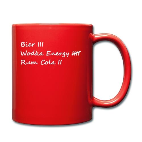 Bier Rum Wodka - Tasse einfarbig