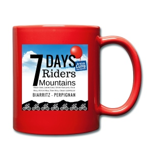 7 days 7 riders 7 mountains Square artwork - Full Colour Mug