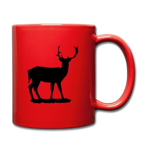 Silueta ciervo en negro - Taza de un color