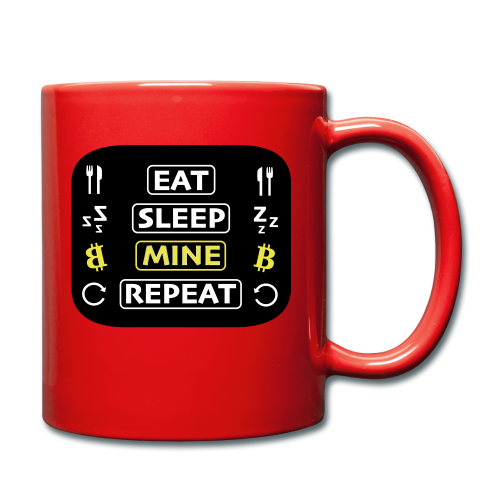 EAT SLEEP MINE REPEAT - Tasse einfarbig
