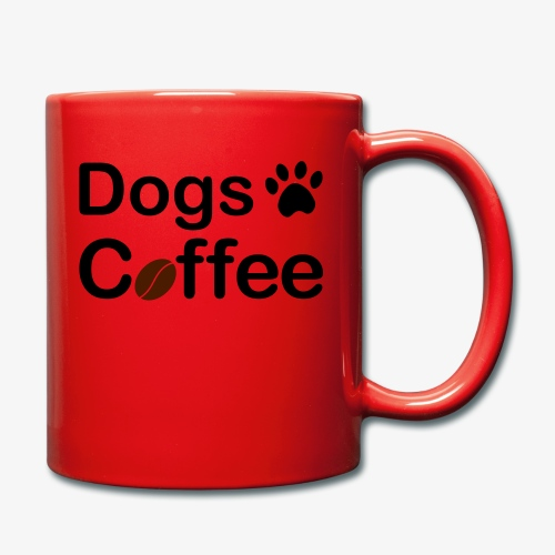 Hundar & Kaffe - Enfärgad mugg