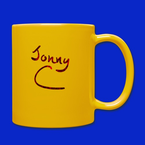 Jonny C Red Handwriting - Full Colour Mug