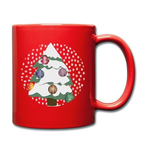 Christmas tree in snowstorm - Full Colour Mug