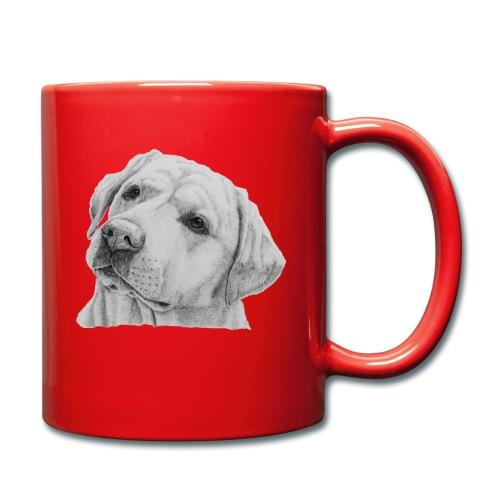labrador retriever yellow - head - Ensfarvet krus