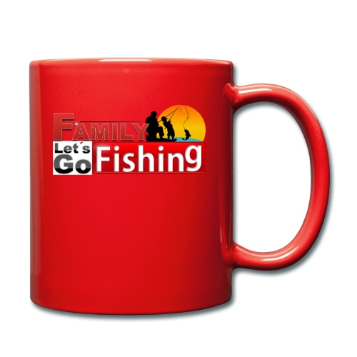 FAMILY LET´S GO FISHING FONDO - Taza de un color