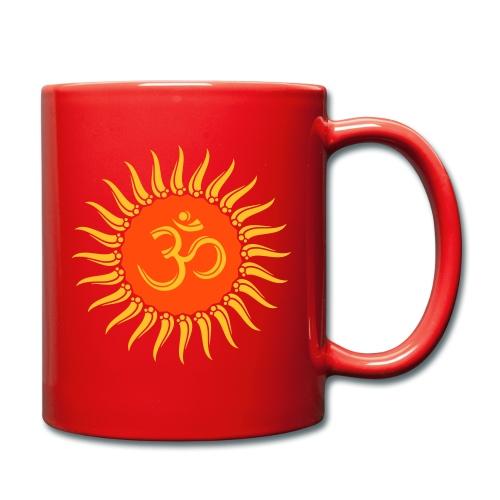 Om Sonne, Buddhismus, Yoga, spirituell, Meditation - Tasse einfarbig