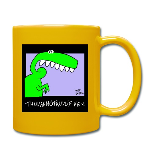 Dinosaur Thuvannofauvuf vex - Enfärgad mugg