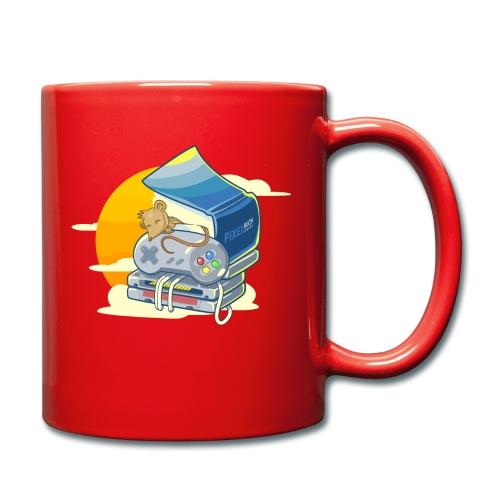 Retro-Leseratte - Tasse einfarbig