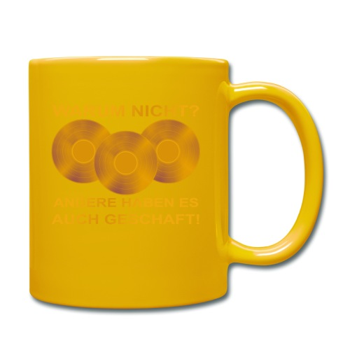 Goldene Schallplatte - Tasse einfarbig