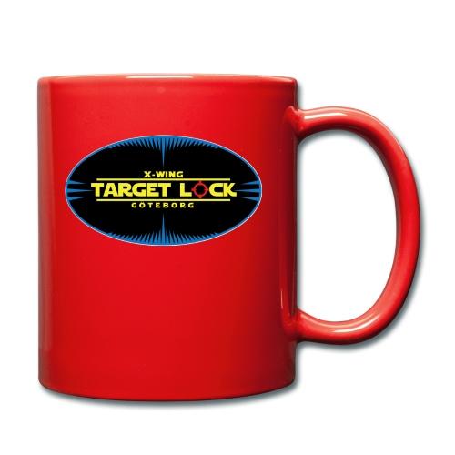 Target Lock Tryck på ljus bakgrund - Enfärgad mugg