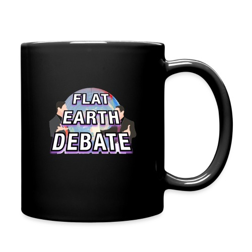 Flat Earth Debate Solid - Full Colour Mug