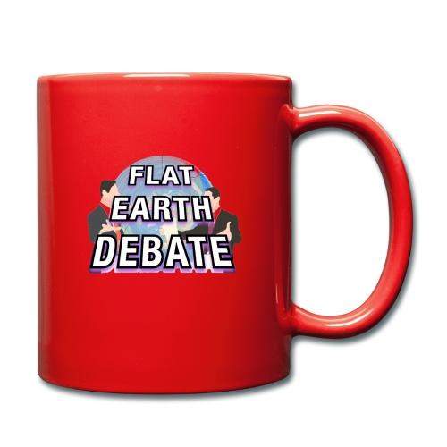Flat Earth Debate Solid - Full Colour Mug