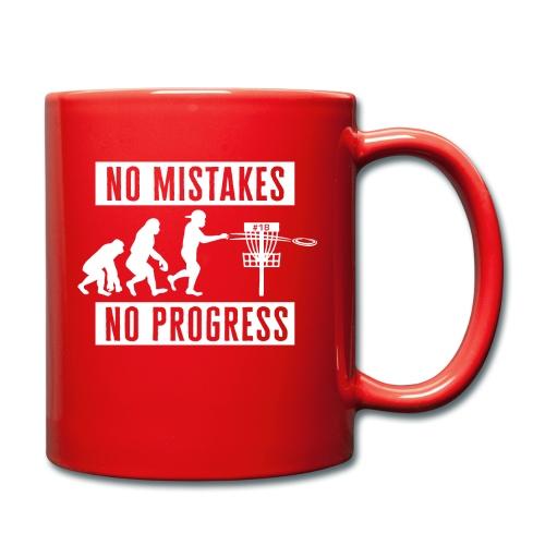 Disc golf - No mistakes, no progress - White - Yksivärinen muki