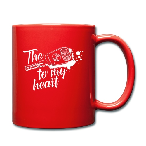 The key to my heart - Tasse einfarbig