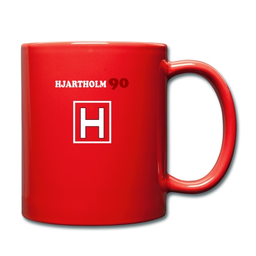 Hjartholm90 - Rød - Ensfarget kopp