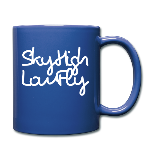 SkyHighLowFly - Bella Women's Sweater - White - Full Colour Mug