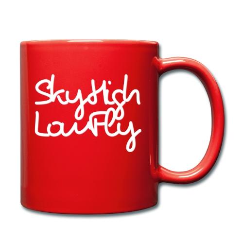 SkyHighLowFly - Bella Women's Sweater - White - Full Colour Mug