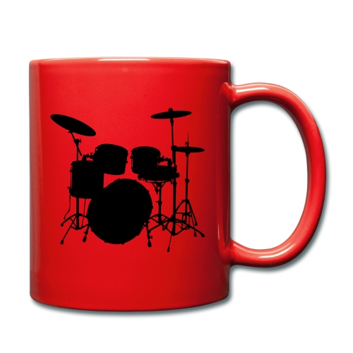 Bateria negro drums - Taza de un color