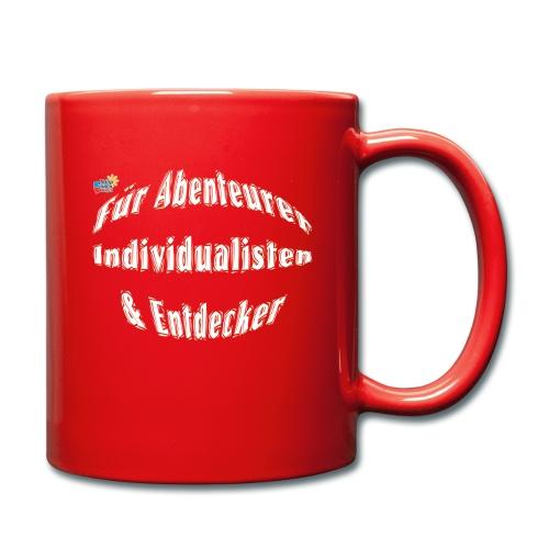 Abenteuerer Individualisten & Entdecker - Tasse einfarbig