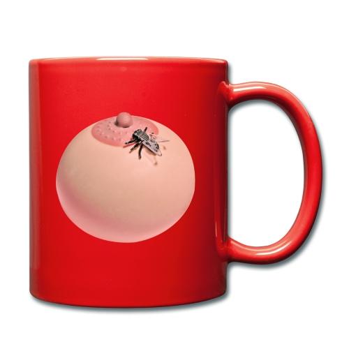 titte mit fliege drauf - Tasse einfarbig