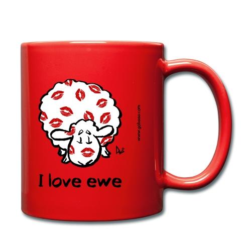Kiss Ewe (Ich liebe Ewe Edition) - Tasse einfarbig