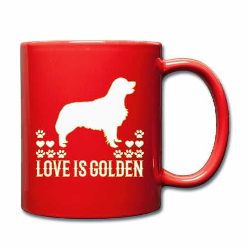Golden Retriever Hundemotiv mit süßem Hund - Tasse einfarbig