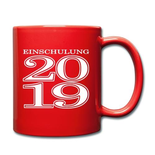 Einschulung 2019 - Tasse einfarbig