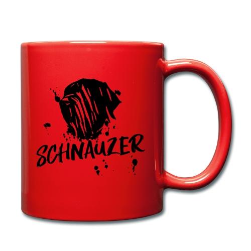 Riesenschnauzer / Schnauzer Comic Design Geschenk - Tasse einfarbig