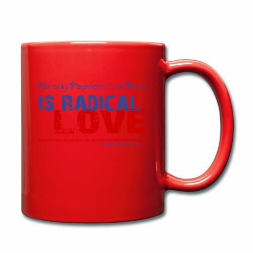 Radikale Liebe blue - Tasse einfarbig