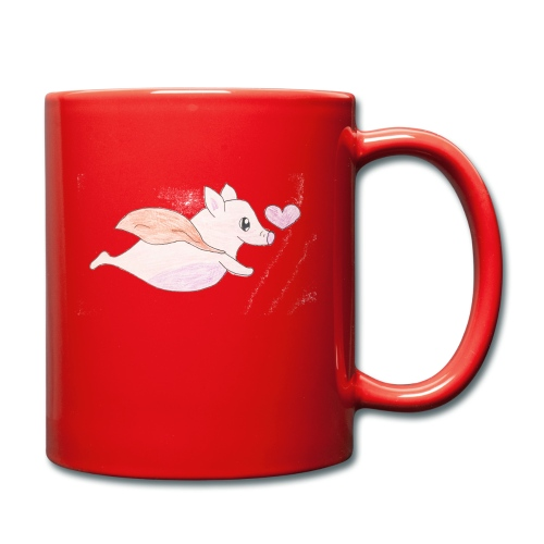 Kids for Kids: Flying Pigs - Tasse einfarbig