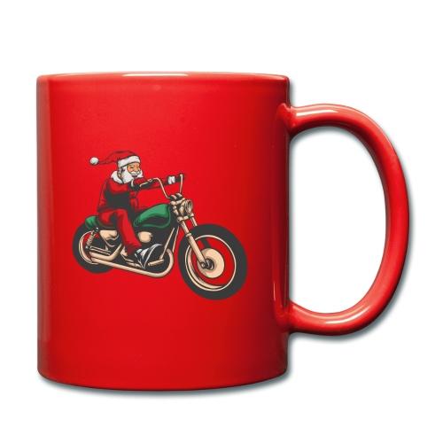 Cool Winter Christmas Santa Motor Biker - Full Colour Mug