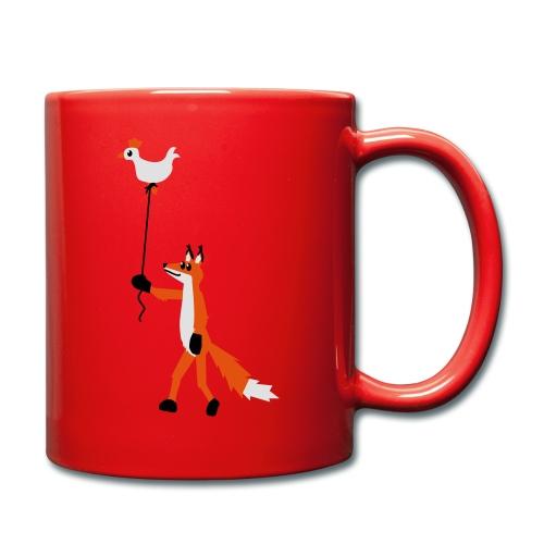 Fuchs und Henne - Tasse einfarbig
