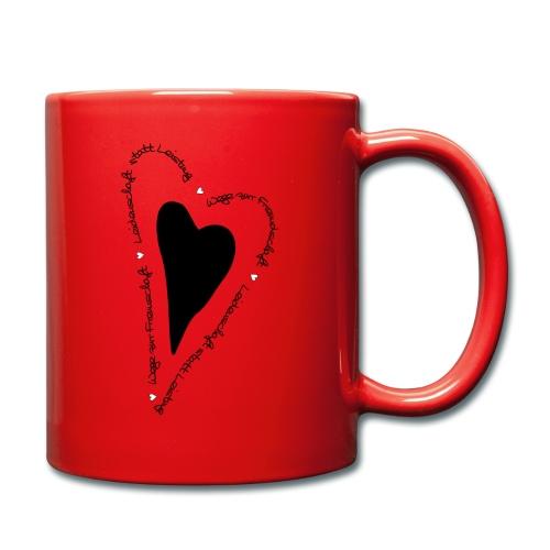 Ullihunde - Herz - Tasse einfarbig