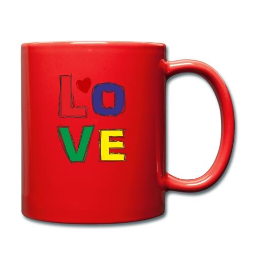 LOVE - Tasse einfarbig