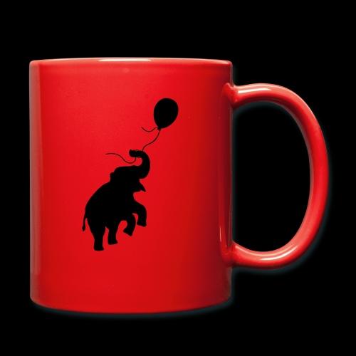 Elefant mit Ballon - Tasse einfarbig