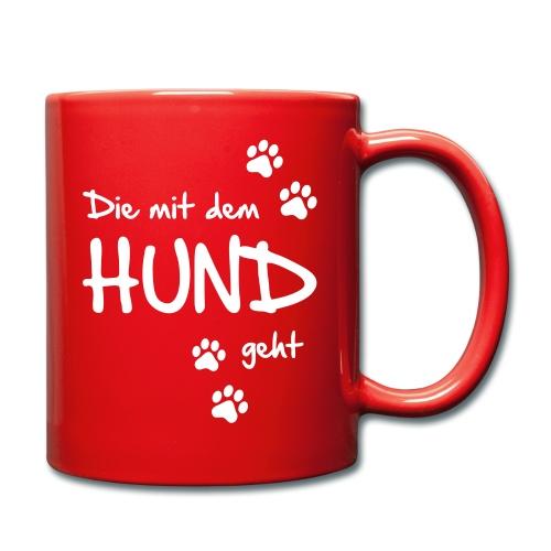 Vorschau: Die mit dem Hund geht - Tasse einfarbig