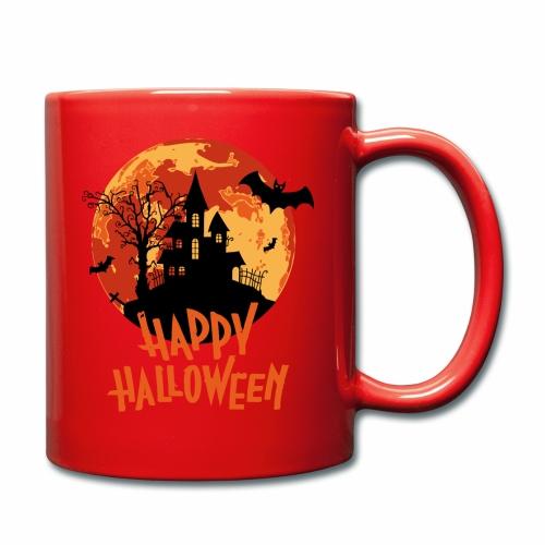 Bloodmoon Haunted House Halloween Design - Tasse einfarbig
