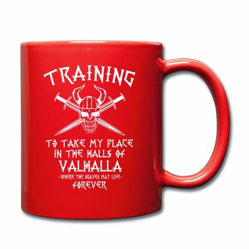training for Valhalla - Taza de un color