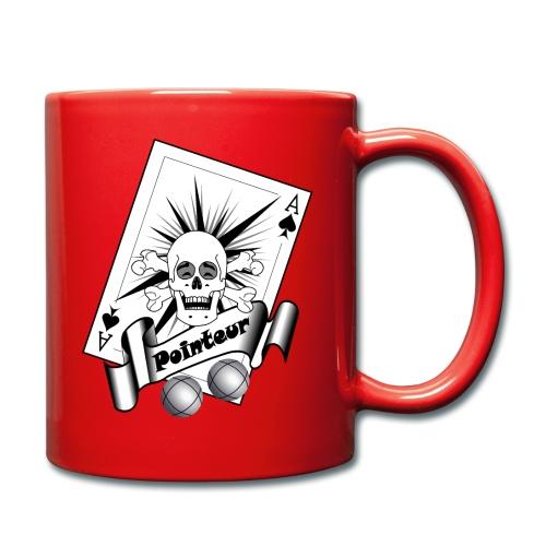 t shirt petanque pointeur crane rieur boules - Mug uni