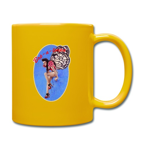 Vintage Rockabilly Butterfly Pin-up Design - Full Colour Mug