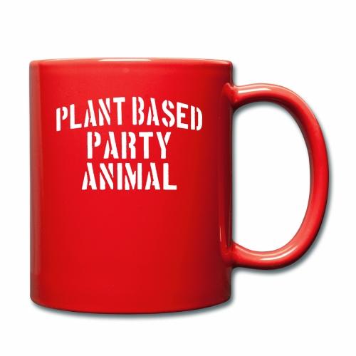Plant Based Party Shirt Veganer T-Shirt Geschenk - Tasse einfarbig
