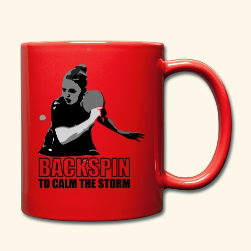 Backspin to calm the storm, play table tennis - Tasse einfarbig
