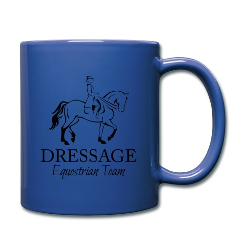 Dressursport Pferd und Reiterin Design - Tasse einfarbig